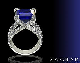 Luxury Ring brilliant 3D print model