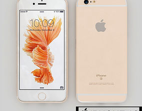 3D model Apple Iphone 6s Gold