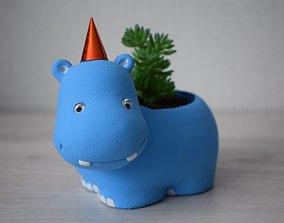 3D print model Hippo flower pot
