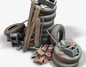 Debris Groundfill Junk Trash Kit Game Ready 3D model