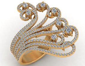 Waves Fashion Infinity Diamond Gold 3D printable model