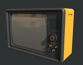 3D model low-poly Retro Television Set