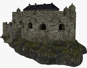 Coastal defense fort 3D