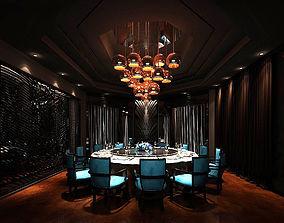 Business Restaurant - Coffee - Banquet 30 3D model