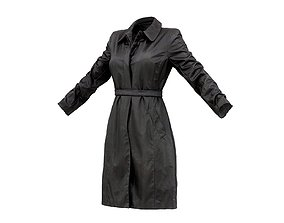 Leather Stitch Trench 3D