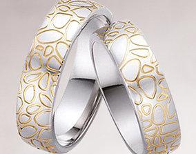 3D printable model Wedding rings 006