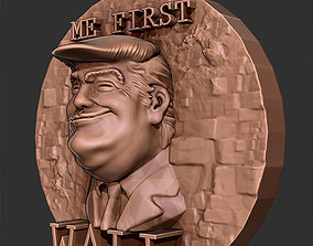 Trump Me first relief 3D print model