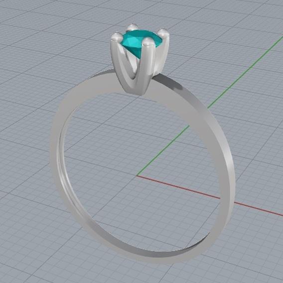 Ring solitarie 3D file