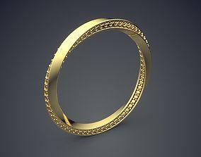 Beautiful Swirled Ring with Diamonds 3D print model