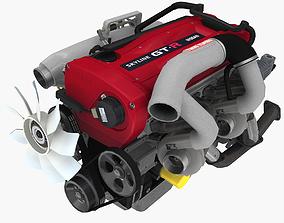 3D model Nissan RB26DETT R34 GTR engine