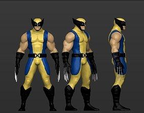 superhero Wolverine - 3D figurine model