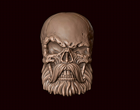 3D printable model Skull with beard and