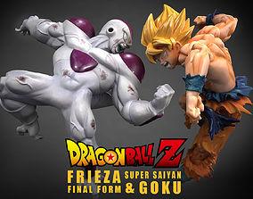 Frieza Final Form - Super Saiyan Goku 3D