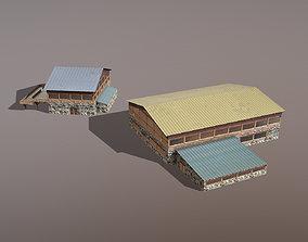 3D model Building Courchevel Building