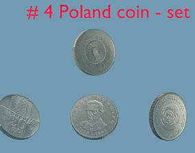 Poland - coin - set - 4 3D model