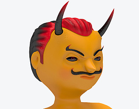 animated game-ready Cute Devil 3D Model Character Rigged