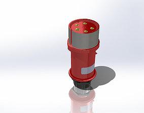 3D model 240V plug Industrial