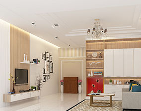 3D model Living Room and Kitchen