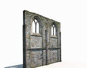 Castle Ruin -Wall Low Poly 3d Model castle realtime