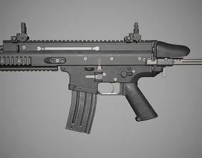 3D asset low-poly Scar SC