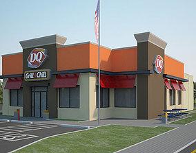 queen Dairy Queen Restaurant 02 3D
