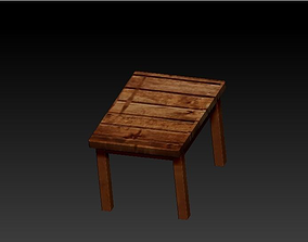 madeira 3D asset realtime WOODEN TABLE
