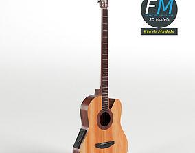 Acoustic Bass Guitar 3D model