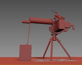 Submachine gun 3dmodel animated