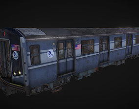 NY Train and wagon 3D asset