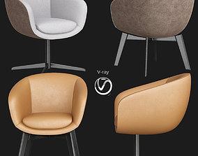 3D model Minotti Russell Little Lounge Dining Chair Set