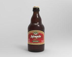 3D Zajecarsko 033L beer bottle