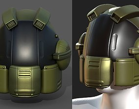 3D asset Helmet scifi fantasy futuristic military Scifi