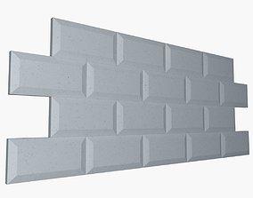 White Beveled Edge Subway 3D model