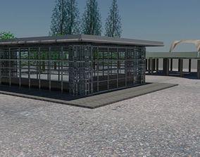 A Pavilion Idea design with landscape 3D model