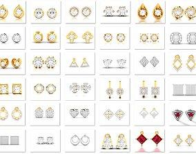 huggies 65 Men Bisexual earrings 3dm render detail