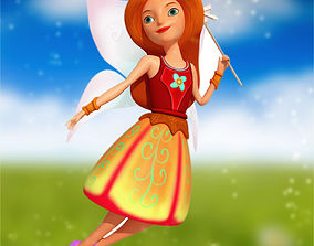 3D Angel Character stylized