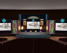 Orientalist Stage Design 3D