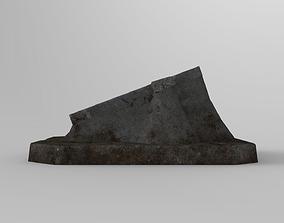 3D model low-poly Lowpoly Gravestone