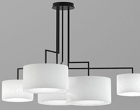 Metal light pendant 3D model