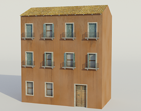 3D model Apartment Building - Low-poly PBR
