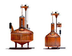 Pot Kettle Stills - Whiskey Distillery 3D asset