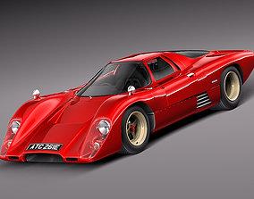Mclaren M6 GT Grand Prix Race car 3D