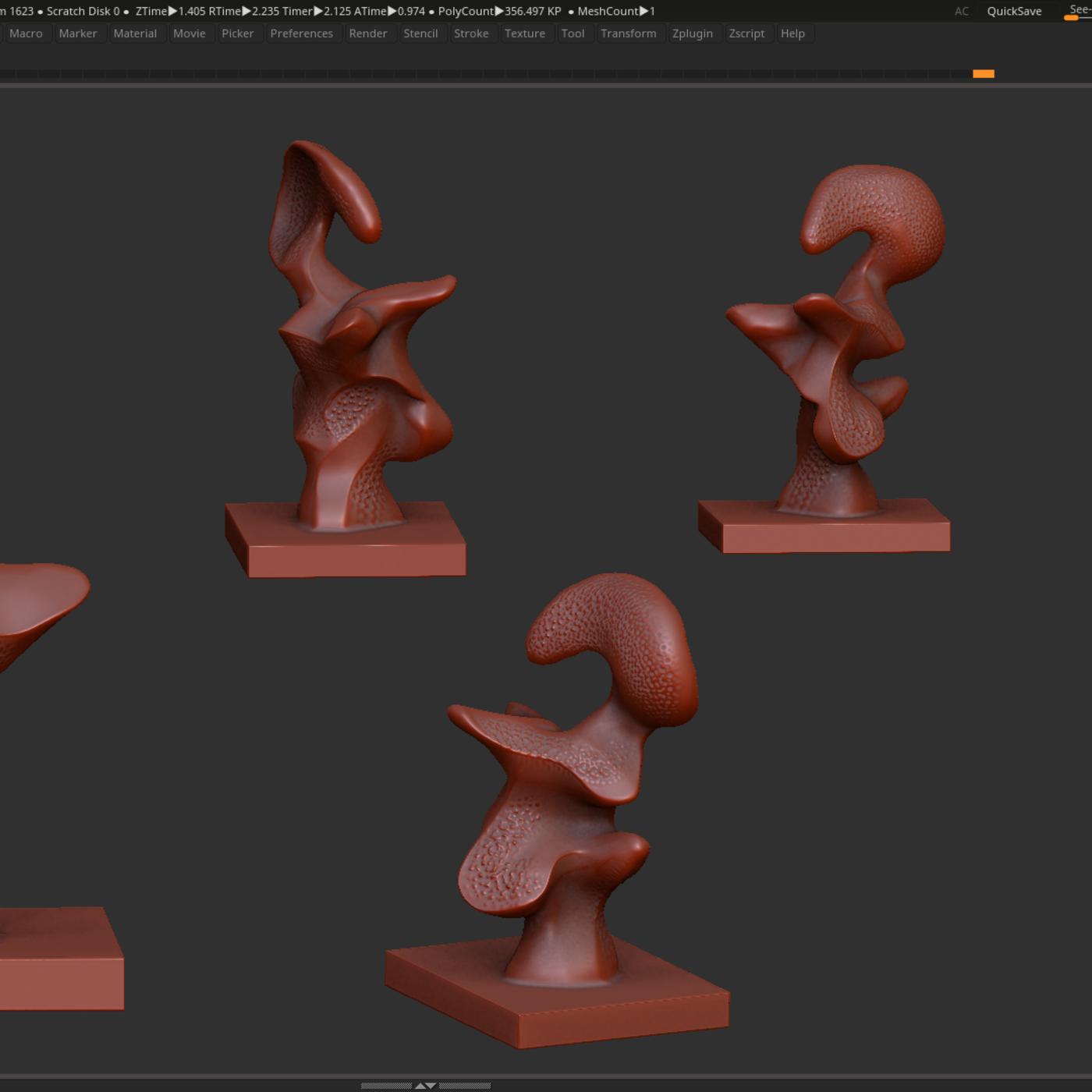 Modern Abstract Decorative sculpture 3d print model
