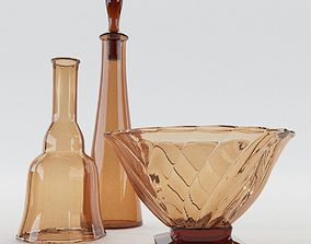 Two Carafes And Bowl - Art Nouveau - Around 1900 3D model