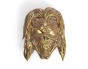 Eddie skull bas-relief 3D printable model