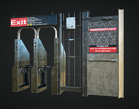 Subway Emergency Gates 3D model