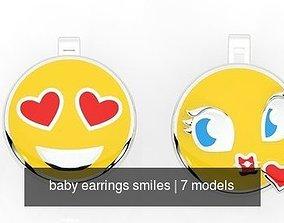 baby earrings smiles 3D model