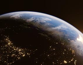 3D model Earth for realtime render Eevee