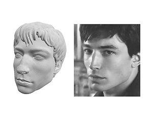 Ezra Miller head sculpt 3D print model