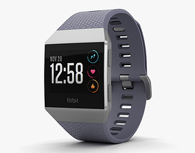 3D Fitbit Ionic Silver Gray